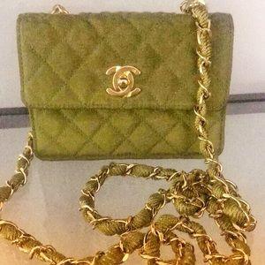 (RARE) Green VINTAGE mini flap shoulder bag